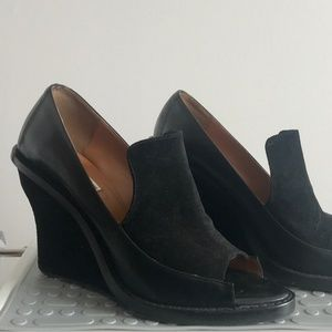 & Other Stories Suede Leather Open Toe Wedge